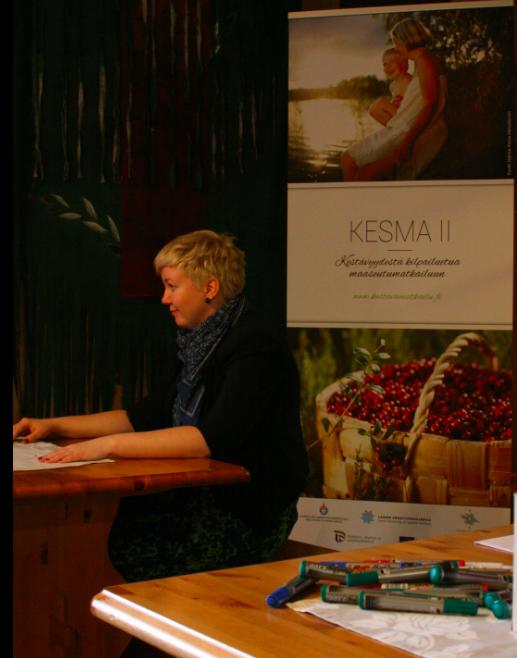 Tarinakoneen tarinatyöpaja KESMA II Kestäväää kilpailuetua maaseutumatkailuun -hankkeessa toteutui Kapeenkoskella Keski-Suomessa 21.10.13.